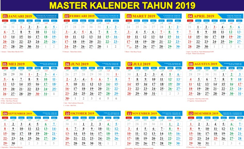 Download Kalender Jawa 2019 Cdr