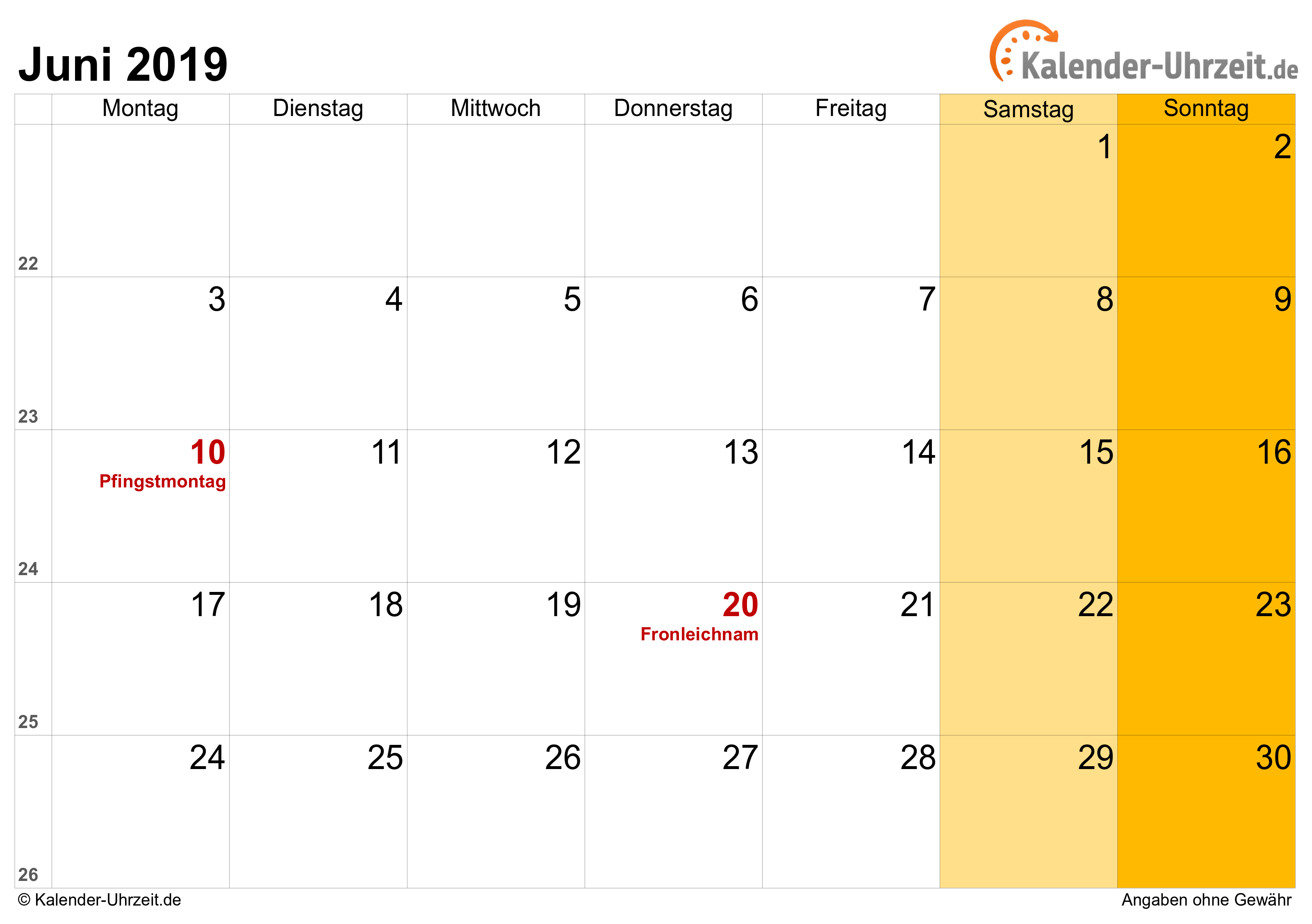 juni 2019 kalender kostenlose herunterladen kostenlose. Black Bedroom Furniture Sets. Home Design Ideas